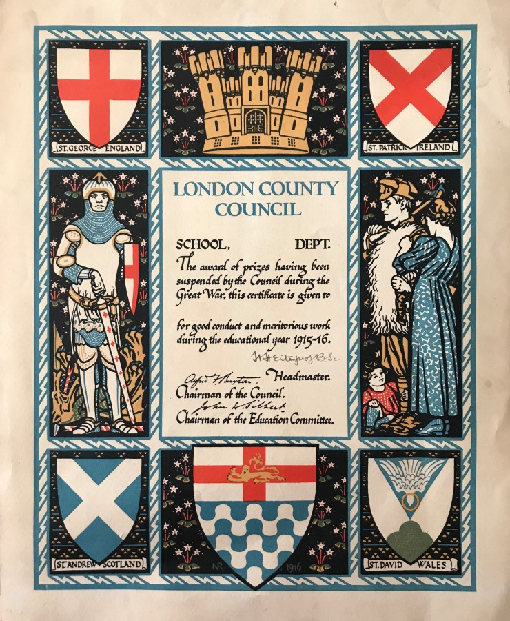 04 LCC Good conduct certificate 1915-16