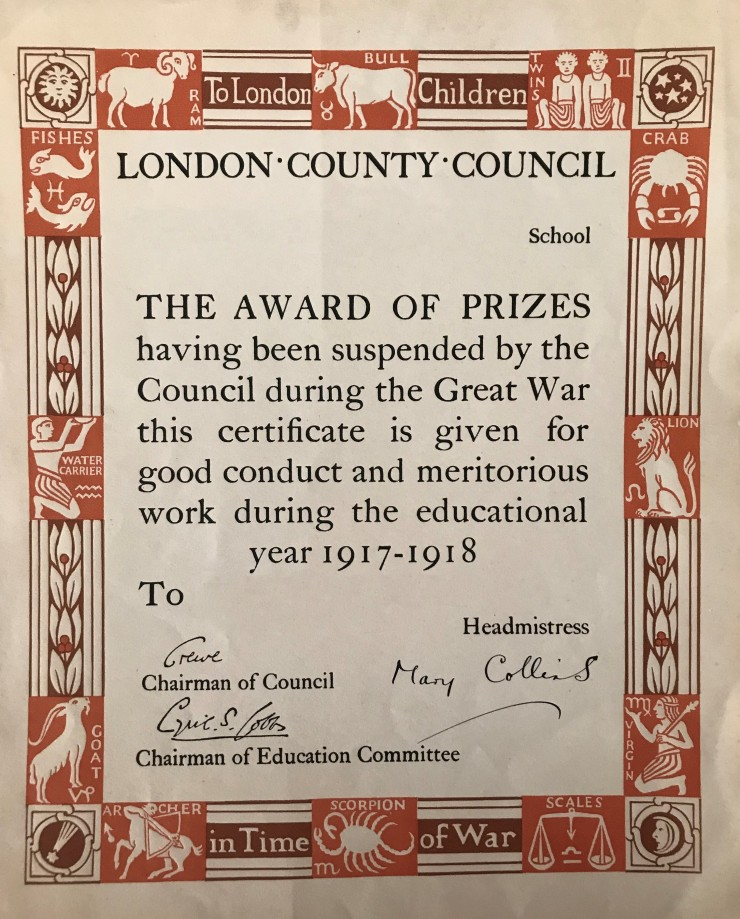 06 LCC Good conduct certificate 1917-18 01