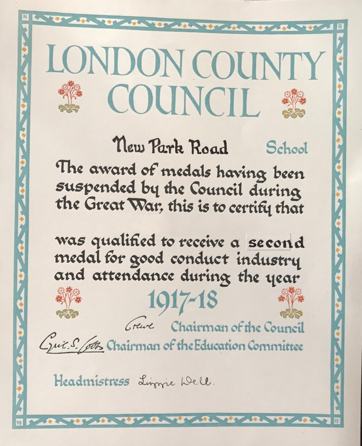 07 LCC Good conduct certificate 1917-18 03