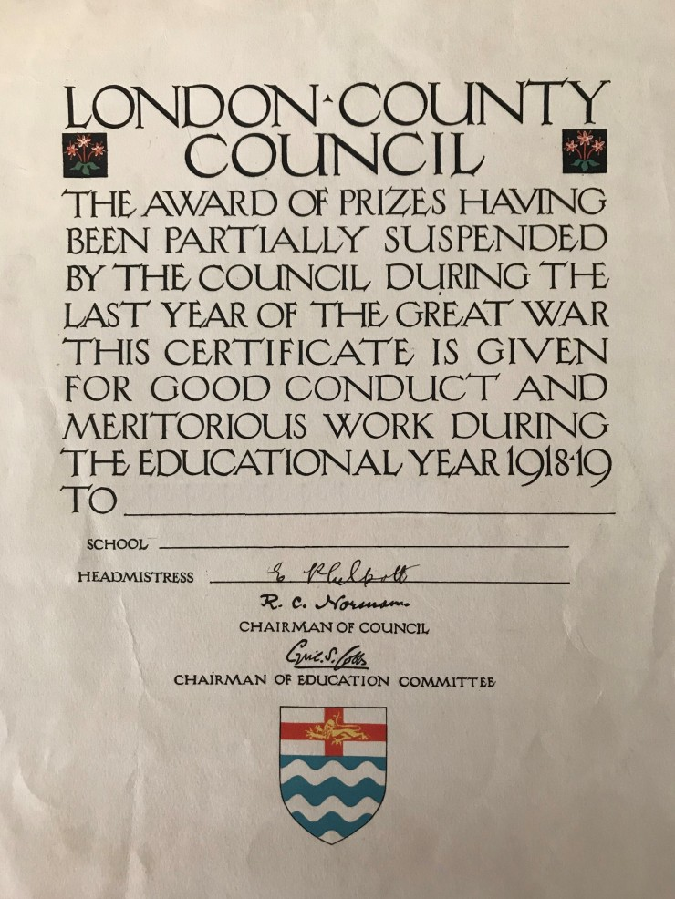 10 LCC Good conduct certificate 1918-19 02